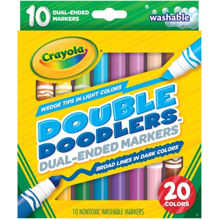 Crayola Dual Ended Washable Markers Broad Line And Chisel Tip