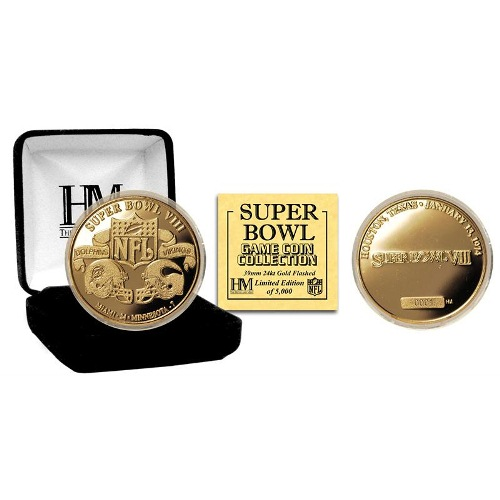 NFL Commemorative Coin by The Highland Mint - Super Bowl VIII