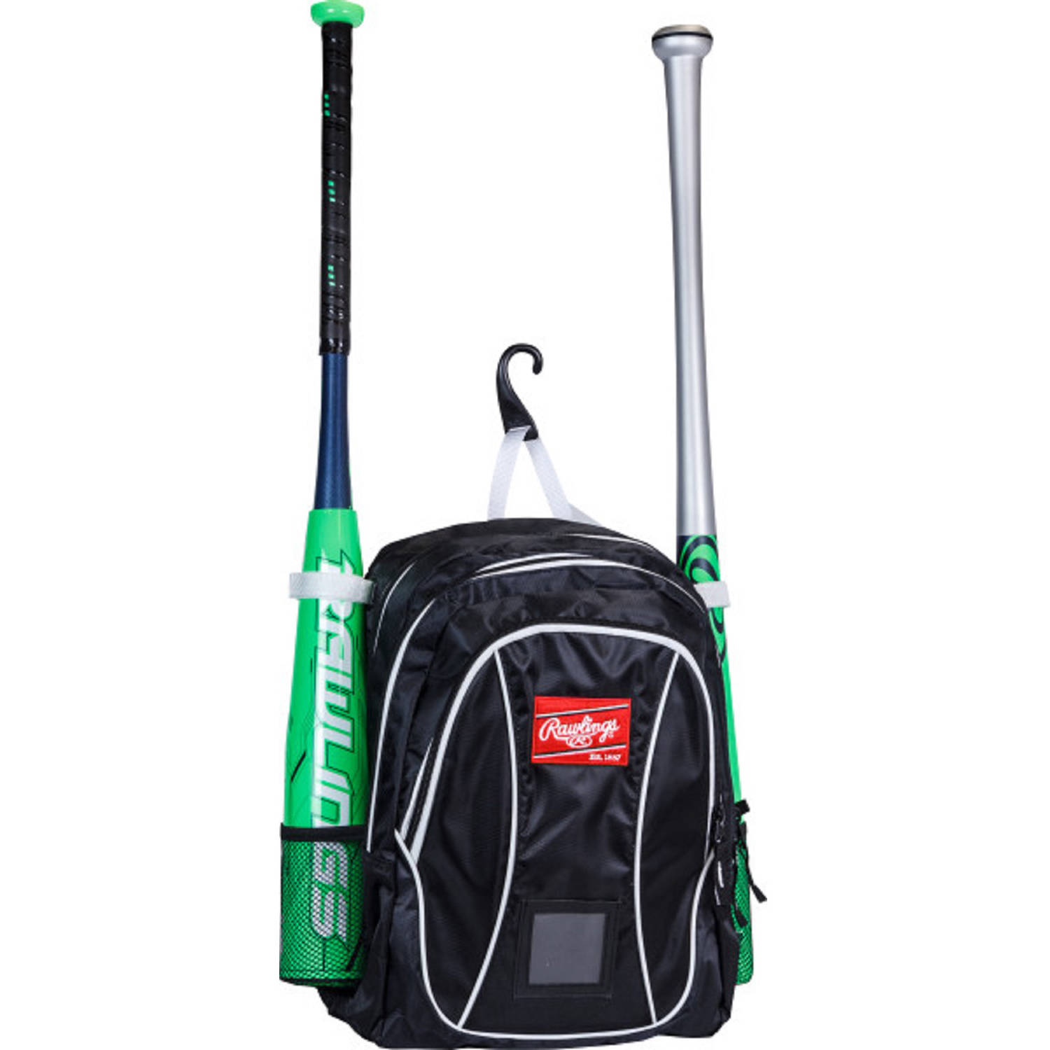 Rawlings Baseball Youth Backpack, Black/White