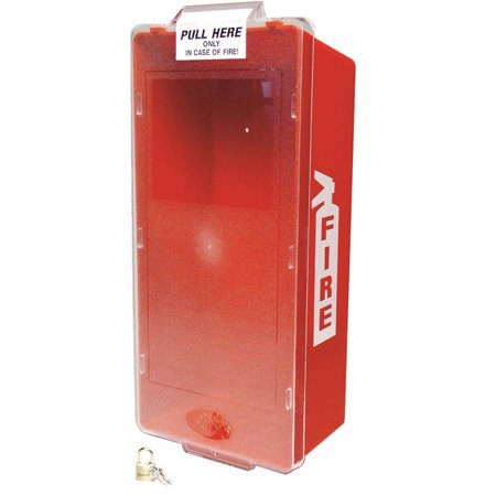Clear View Wall Cabinet (Mark Jr. Fire Extinguisher Cabinet 5 LB. Red Tube And Clear Cover )