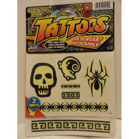 Glo in the Dark Tattoos - Fun to Wear! - Easy to (Best Way To Apply Temporary Tattoos)