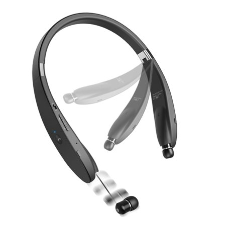 Neckband HiFi Sound Wireless Headset with Retracting Earbuds for  Verizon LG G Pad 8.3 - Verizon LG G Pad 7.0 - AT&T LG G Pad 7.0 - Verizon LG G Pad 10.1 - Sprint Motorola Moto Z3 Play