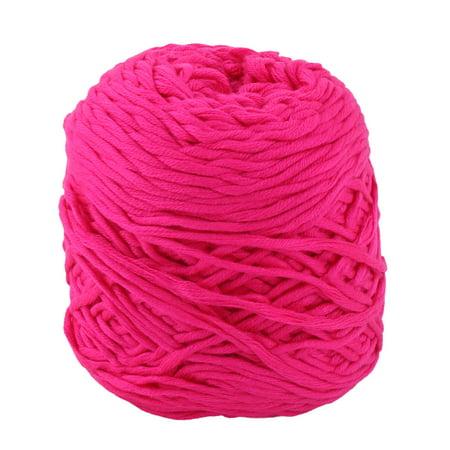 Fuchsia Crochet - Acrylic Fiber Handmade Crochet Gloves Sweater Knitting Yarn Cord Fuchsia 200g