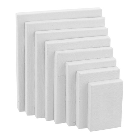 US Art Supply Professional Stretched Canvas 12-ounce Primed Variety Rectangular Assortment 8-Canvases Sizes (Canvas Boards)