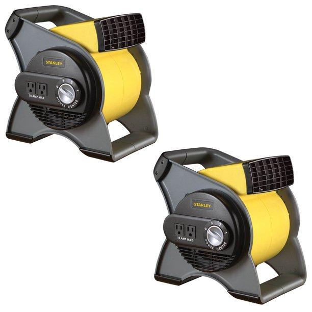 Stanley 3 Speed High Velocity Durable Utility Blower Fan W 2 Outlets 2 Pack Walmart Com Walmart Com