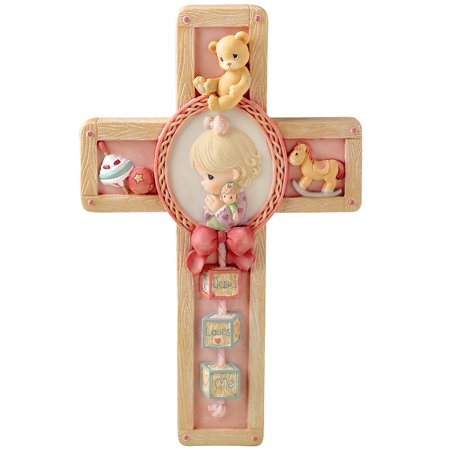 Precious Moments Jesus Loves Me Resin Cross Girl