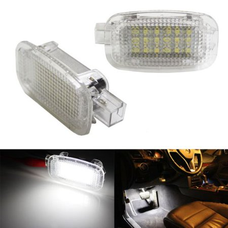 Ijdmtoy 18 Smd Error Free Led Side Door Courtesy Footwell Vanity Mirror Cargo Area Glovebox Lights For Mercedes Benz C E S R G Ml Cl Sl Gl Glk
