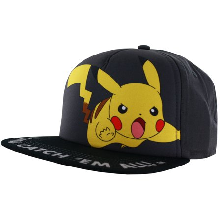 Pokemon Pikachu Big Motif Printed Hat](Pikachu Hat)