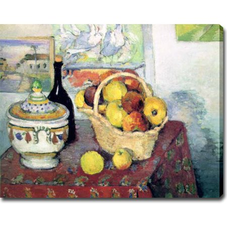 Idea Factory USA 'Still Life with Fruits and Vases' Oil on Canvas Art - Multi