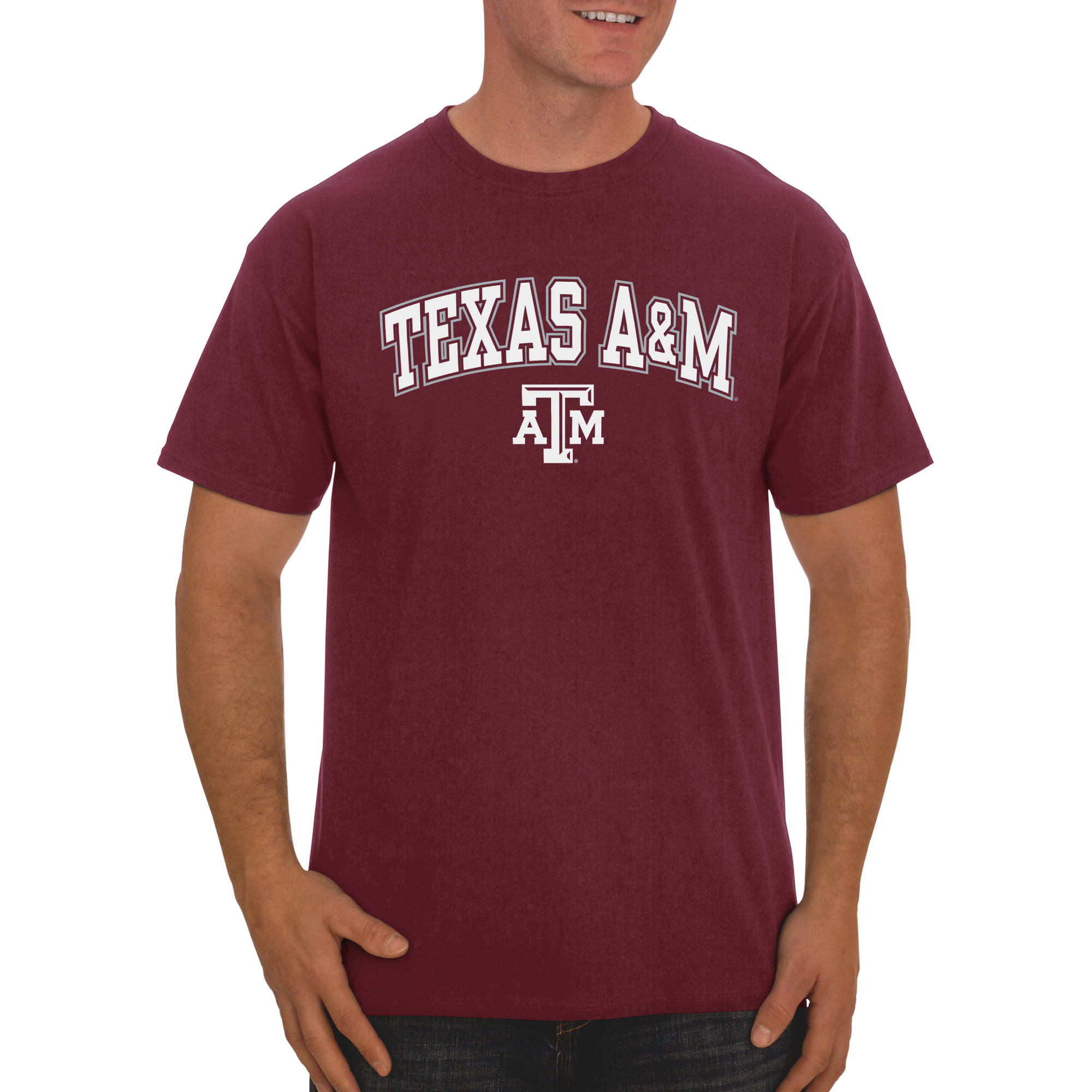 Russell NCAA Texas A&M Aggies Big Men's Classic Cotton T-Shirt