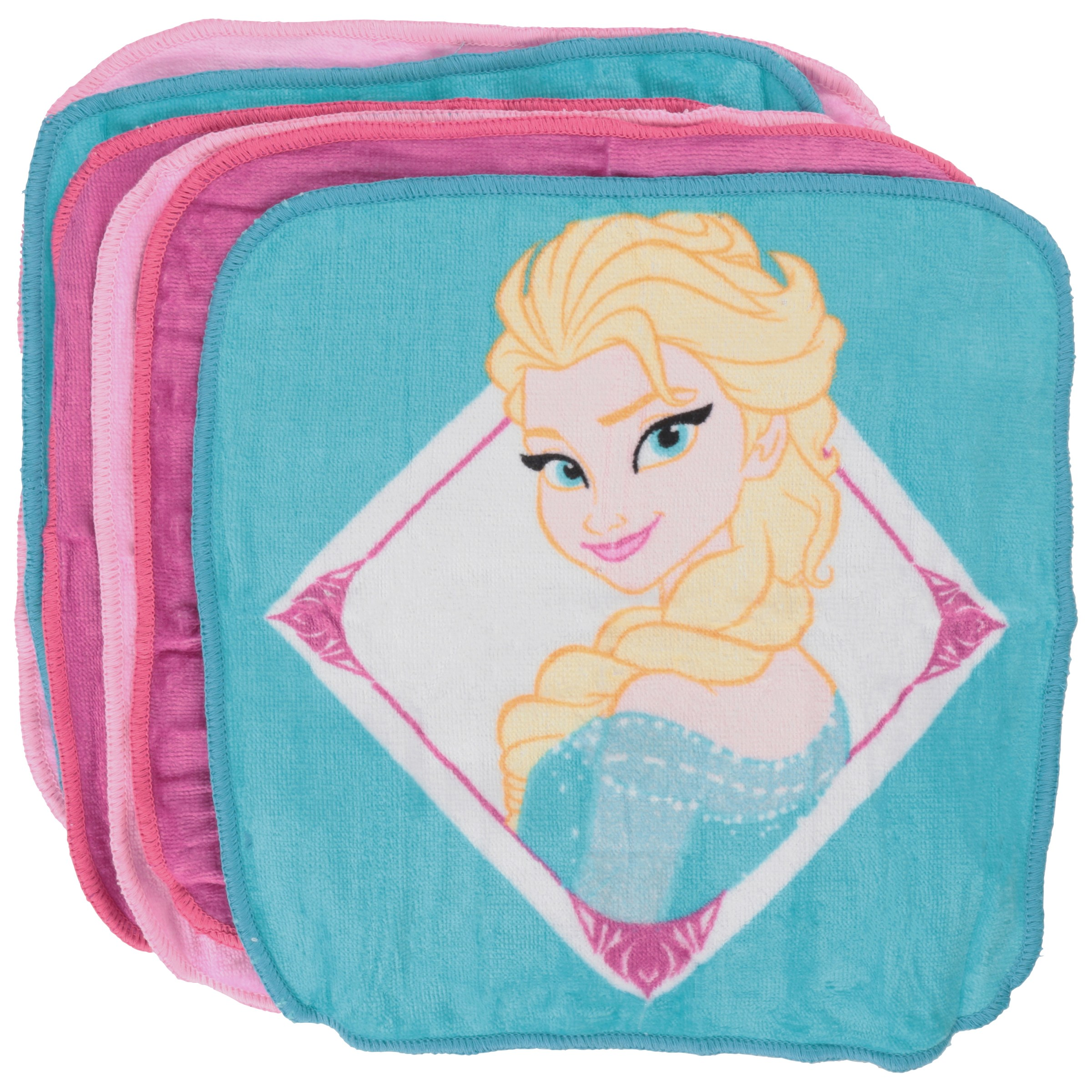 Disney Frozen Wash Cloth 6 pc Pack