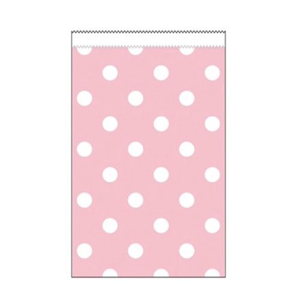 Club Pack of 240 Classic Pink and White Polka Dots Small Decorative Paper Party Treat Bags 4