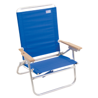 RIO Beach 4-Position Easy In-Easy Out Beach Chair - Blue