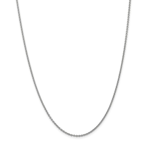 14k White Gold 16in 1.9mm Solid Polished Cable Necklace Chain by Jewelrypot