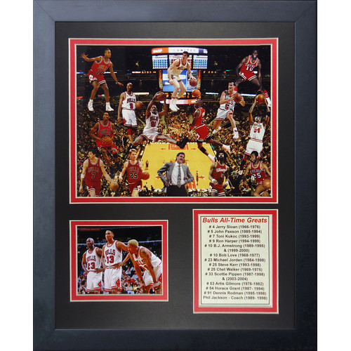 Legends Never Die Chicago Bulls All Time Greats Framed Memorabilia