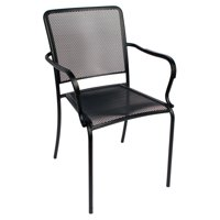 BFM Seating Chesapeake Steel Stackable Patio Dining Chair