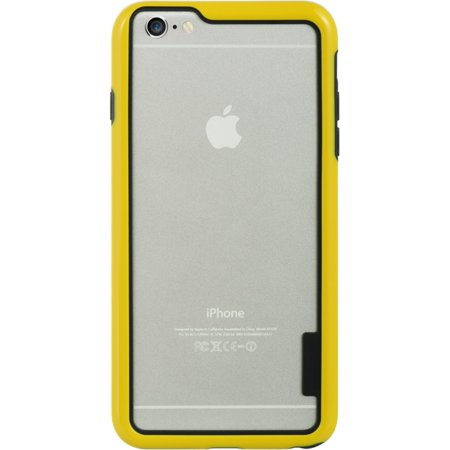 Insten Hard Hybrid Crystal TPU Case for Apple iPhone 6s Plus / 6 Plus - Clear/Yellow - image 3 of 5