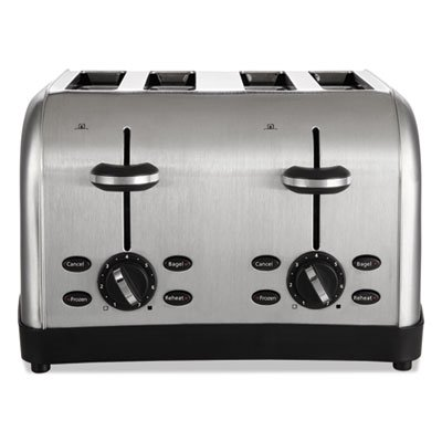 Extra Wide Slot Toaster  4 Slice  12 3 4 X 13 X 8 1 2  Stainless Steel  Sold As 1 Each