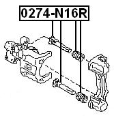PIN SLIDE For Nissan PRIMERA P11 1996-2001 OEM 44140-70J25 WHEEL STUD