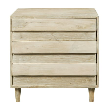 - Reclaimed Look 3 Drawer Mango Wood Accent Chest