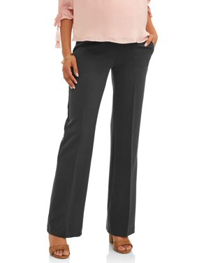 61f14c13ff Product Image Maternity Demi-Panel Flared-Leg Career Pants -- Available in  Plus Sizes
