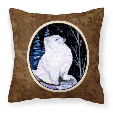 Carolines Treasures Starry Night American Eskimo Decorative Outdoor Pillow