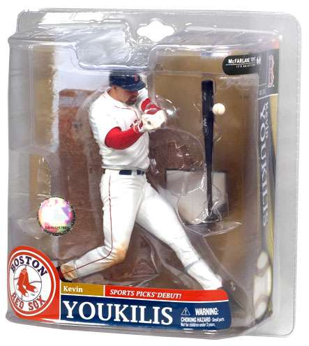 Kevin Youkilis Action Figure White Jersey MLB  Boston Red Sox