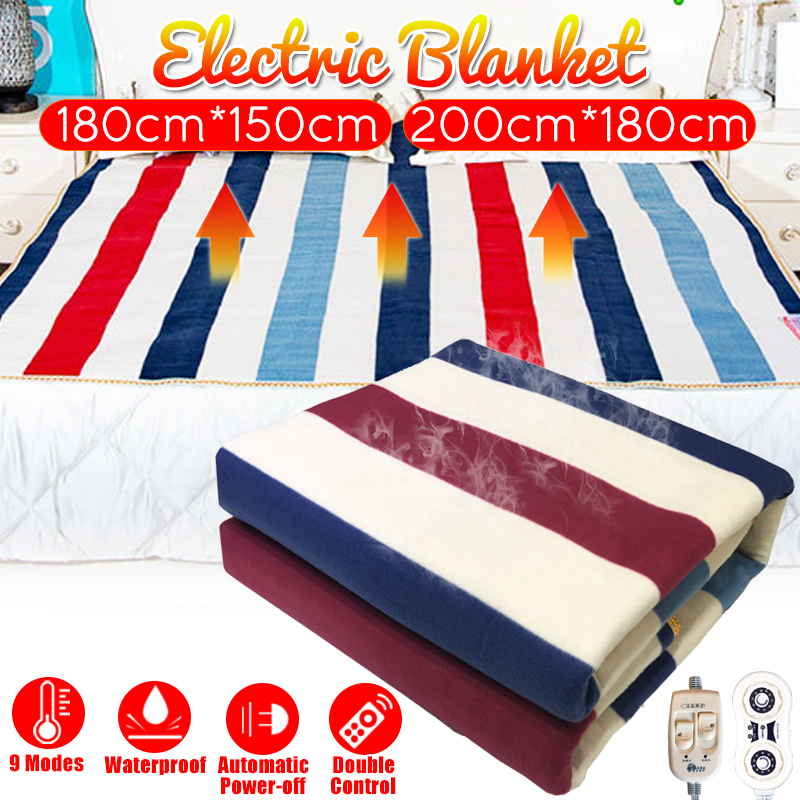 ELECTRIC BLANKET DOUBLE HOME WASHABLE HEATED WINTER
