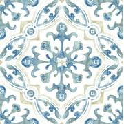 FloorPops! Virgin Vinyl Blue FP3299 Tuscan Peel & Stick Floor Tiles Flooring Materials