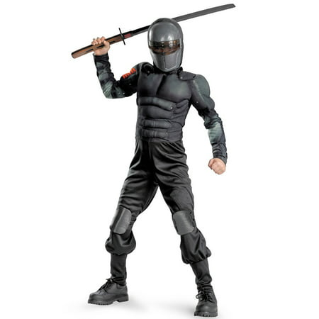 Snake Eyes Muscle Child Halloween Costume, L (10-12)](Snake Eyes Costumes For Kids)