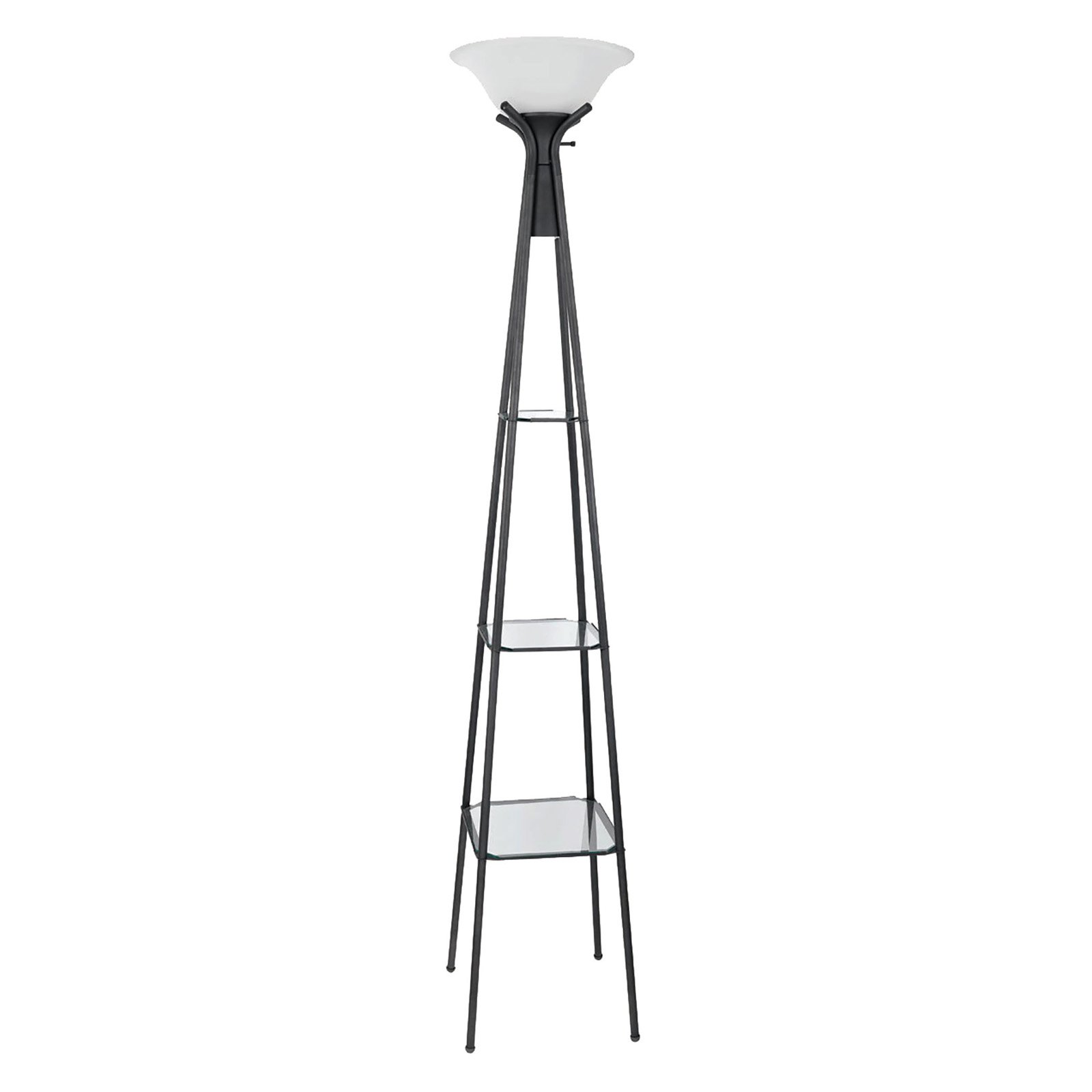 Coaster Company Floor Lamp, Charcoal Finish with Frosted Glass Shade by Coaster Company