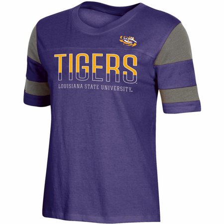 Women's Russell Purple LSU Tigers Boxy T-Shirt ()