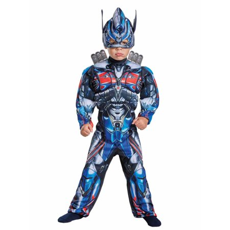 Toddler Boys Transformers Optimus Prime Muscle Torso Costume 2T