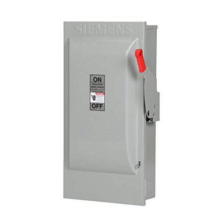 Siemens HF224N 200 Amp 240v 2 Pole 3 Wire Fusible Fused Safety Switch Disconnect (Siemens 200 Amp)