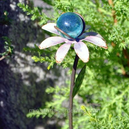 Miniature Flower Gazing Ball, Color Options for Miniature Garden, Fairy (Bali Garden)