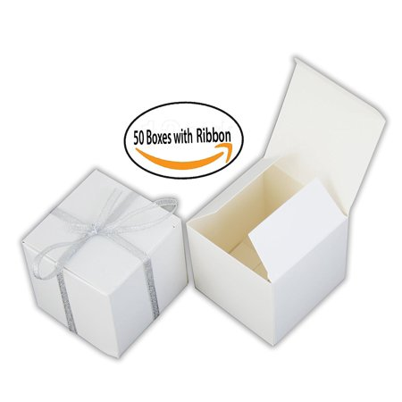 Small Gift Boxes Party Favor Box White 3 X3 X3 50 Boxes With