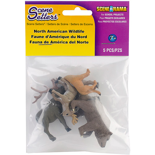 North American Wildlife Figurines 5/pkg