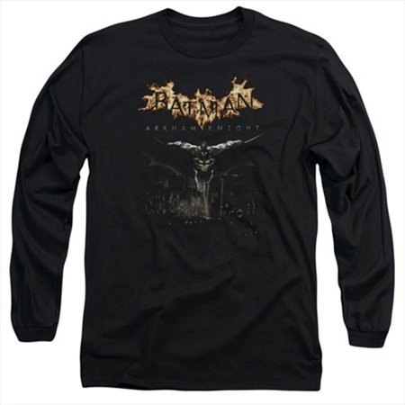 Batman Arkham Knight-City Watch - Long Sleeve Adult 18-1 Tee, Black - Medium - image 1 de 1