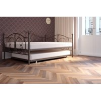 DHP Bombay Metal Daybed Frame and Twin Size Trundle, Multiple Sizes and Colors