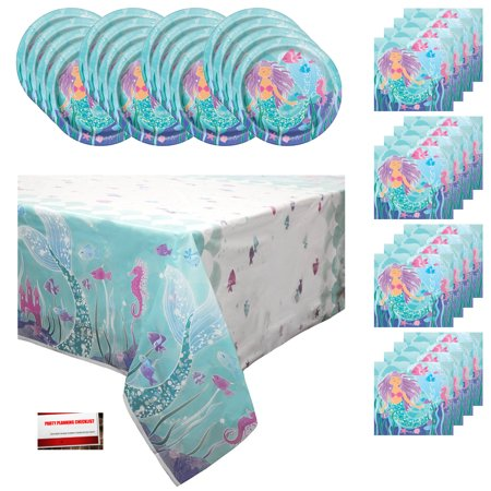 Party Store Orlando (Mermaid Birthday Party Bundle Pack for 16 Guests (Plus Party Planning Checklist by Mikes Super)