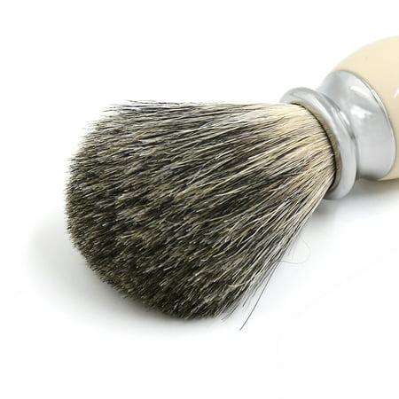 Luxury Faux Ivory Handle Pure Badger Hair Wet Shaving Brush for Men - image 4 de 6