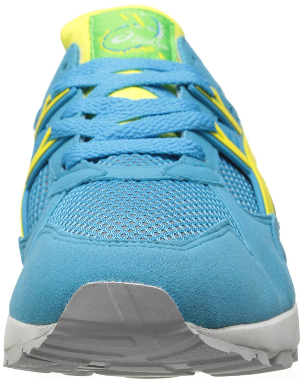 asics men's gel-kayano trainer retro running shoe, atomic blue/blazing yellow, 9.5 m us
