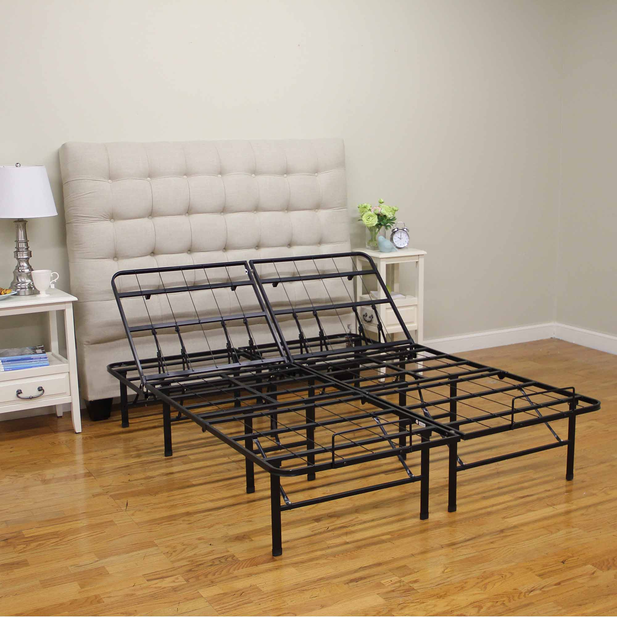 modern sleep adjustable platform metal bed frame walmartcom - King Size Adjustable Bed Frame