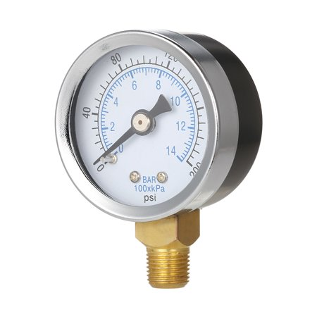 "40mm 0 ~ 160 psi 0 ~ 10bar Piscine Filtre Pression d'eau Cadran ""Thread NPT 1/8 hydraulique Manomètre Compteur Manomètre - image 3 de 7"