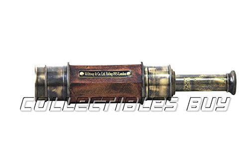"Antique vintage maritime 6/"" brass telescope royal navy spyglass scope gift"