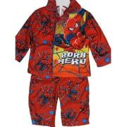 Baby Boys Red Superhero Print Button Down 2 Pc Pajama Set 12-18M