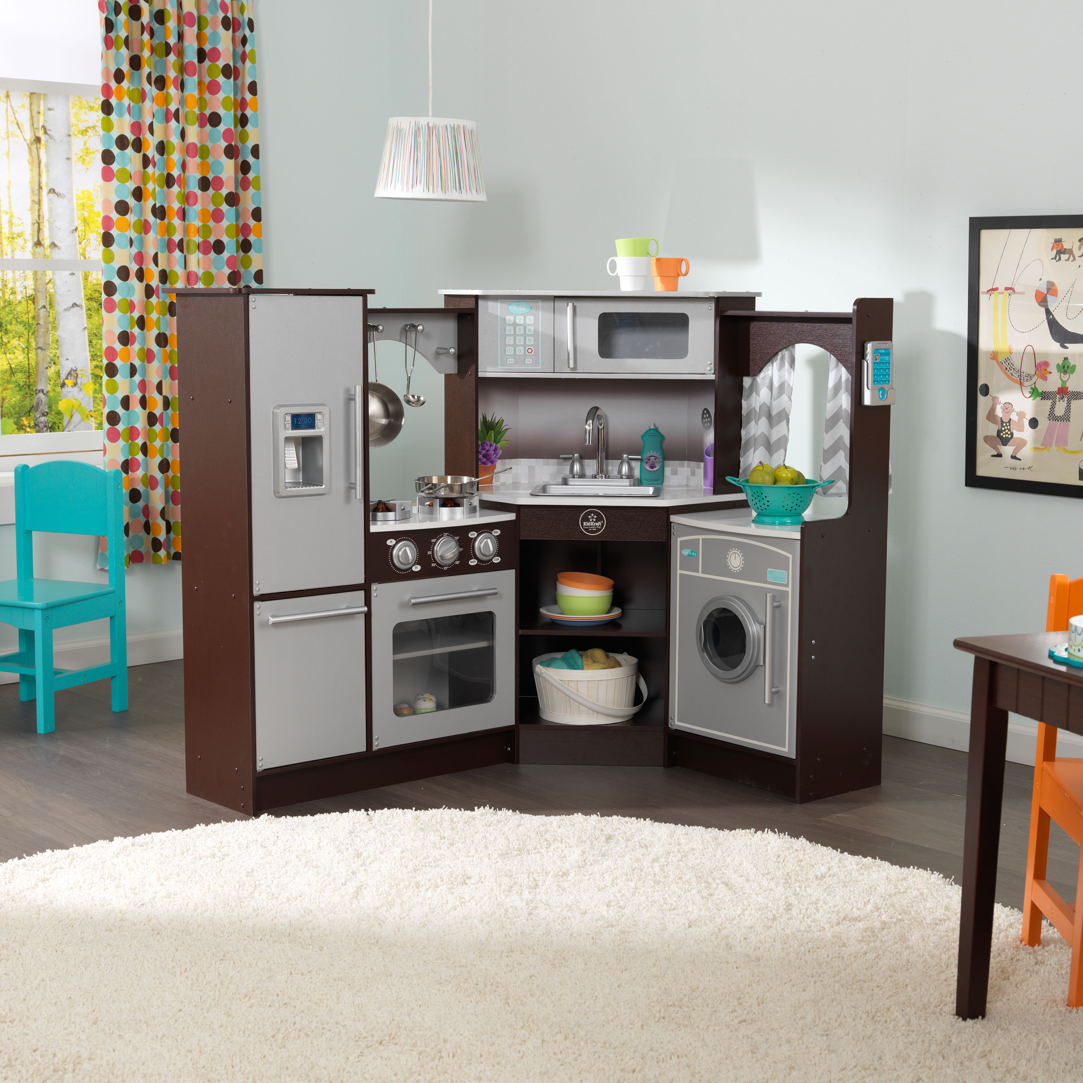 KidKraft Ultimate Corner Play Kitchen with Lights & Sounds ...