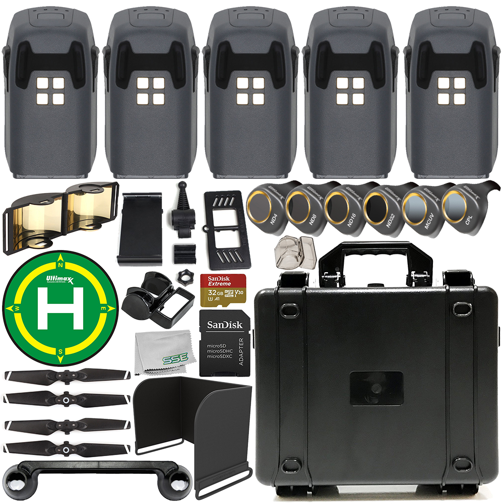 5-Battery EVERYTHING YOU NEED Ultimate Accessory Bundle for DJI Spark