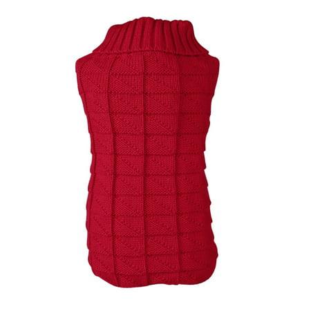 Unique Pet Costumes (Unique BargainsSmall Pet Dog Clothes Puppy Cat Warm Sweater Knit Coat Apparel Costume Red,)