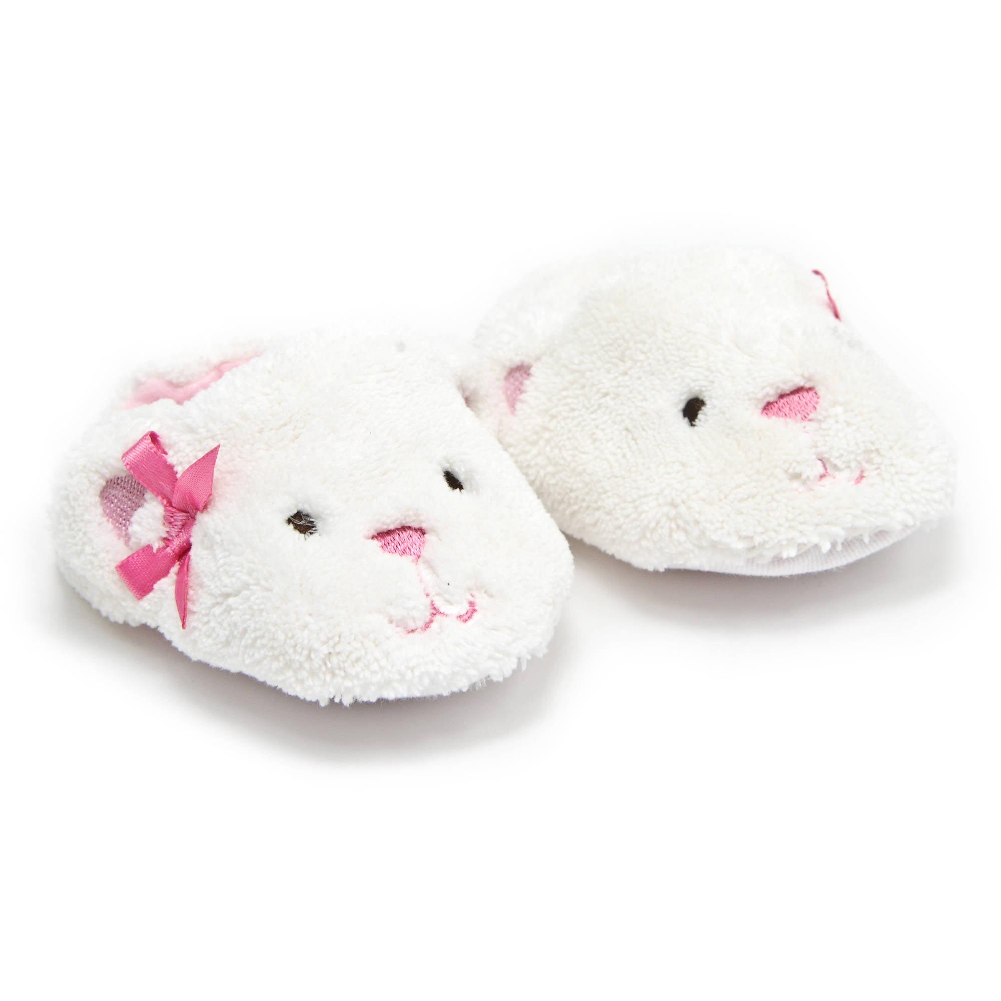 Child of Mine Baby Girls' Plush Bunny Slippers